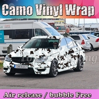 Camouflage Vinyl Wrap Sheet Sticker Roll Adhesive Camo vinyl decal Bubble Free 1.52x20m/30m available