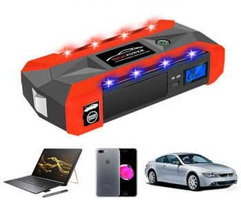 6L Petrol 5L Diesel - 80000mWh Car Jump Starter 1000A Peak Car Battery Power Pack 12V Auto Charger Portable Starting Device Bank