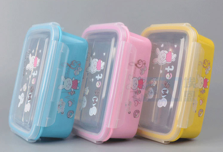 Cartoon Rabbit Children Bento Insulated Lunch Box Case Stainless Steel Container