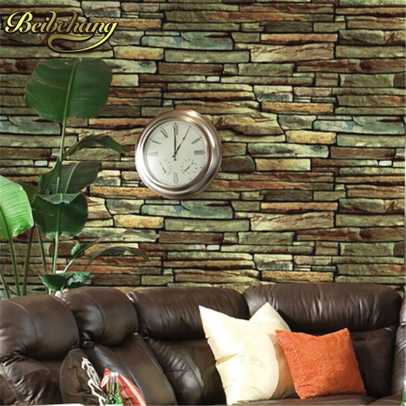 beibehang wall paper roll stone brick background wall vinyl wallpaper 3d modern for living room papel de parede 3d papel contact non woven bubble butterfly wallpaper design modern pastoral flock 3d circle wall paper for living room background walls 10m roll