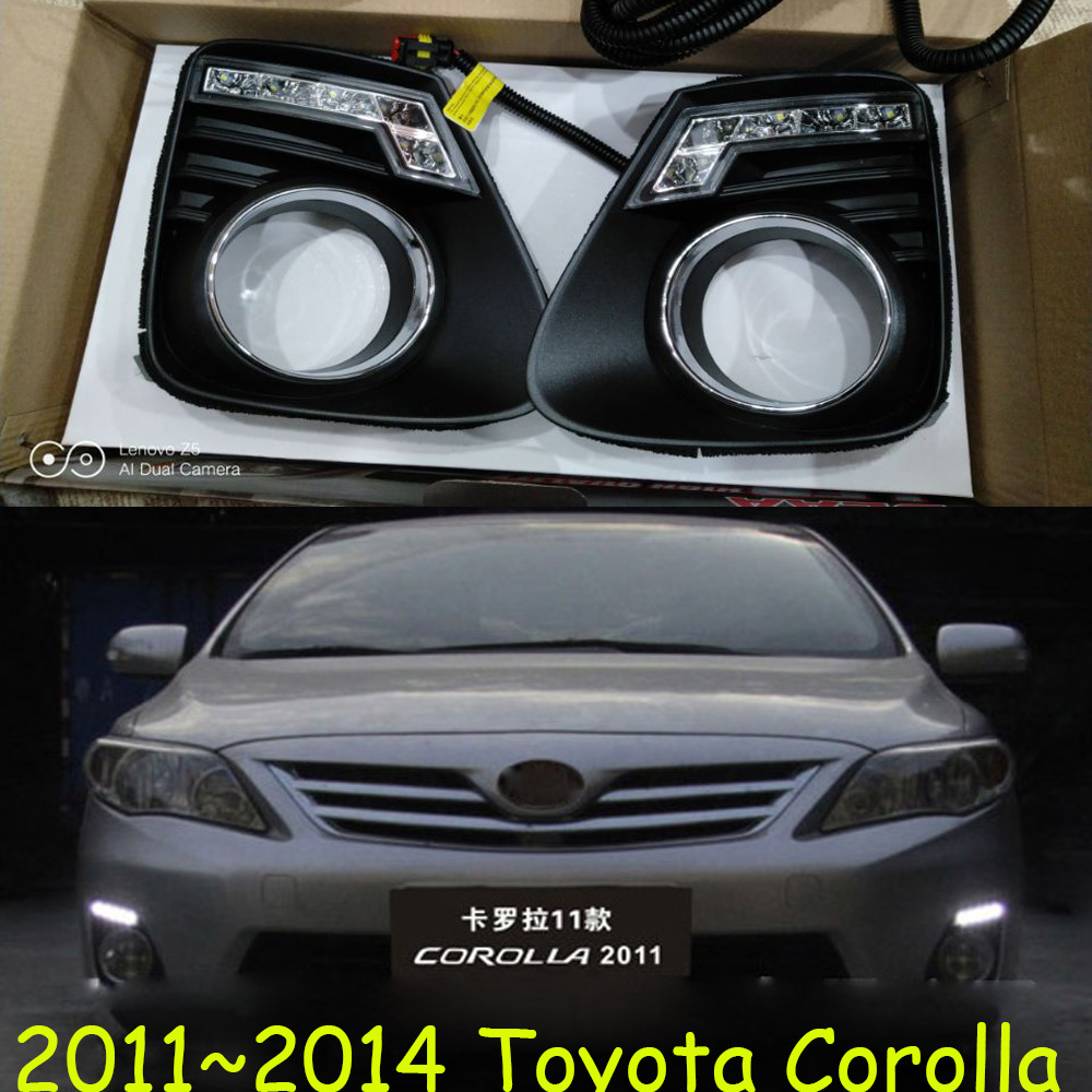 Corolla bumper lamp 2011 2012 2013year car accessories altis fog light corolla daytime light