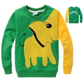 2017 baby boy t-shirt cotton long-sleeved comfortable cute cartoon elephant  boys and girls t-shirt kids clothes 3-7 years