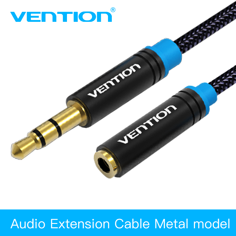Stereo Speaker Cable Extensions : Vention jack mm male to female audio cable headphone