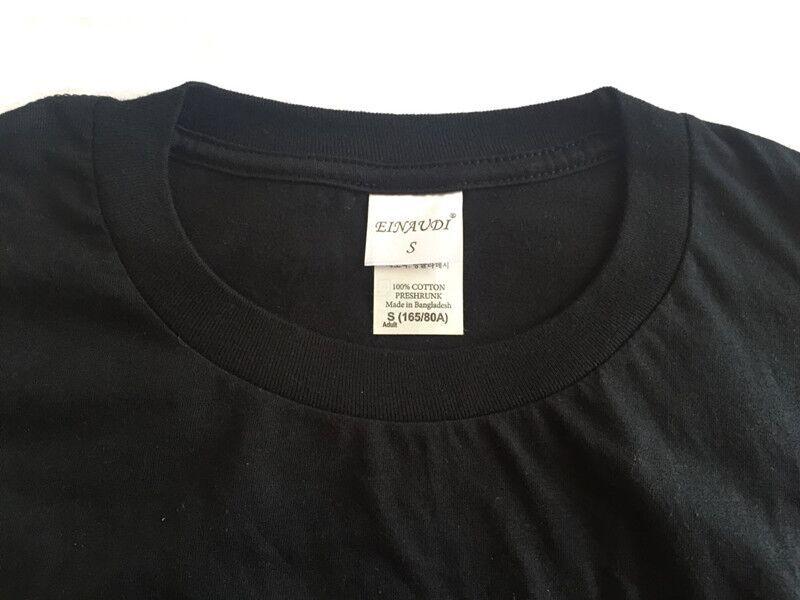 2017 новинка, модель высокого качества мужская футболка прошел Cook рукавом о-бюстгальтер изделия футболка из 100% хлопка марка мужская белый черный футболка