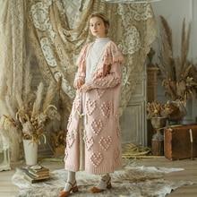 Линетт китайский стиль весна зима дизайн для женщин Ультра свободные Mori для девочек Винтаж Вышивка негабаритных свитеры кардиганы
