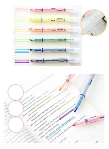 Image 4 - 36 pcs/Lot Pretty Color highlighter pen Fluorescent Liquid ink marker for book paper fax Stationery office School supplies A6857