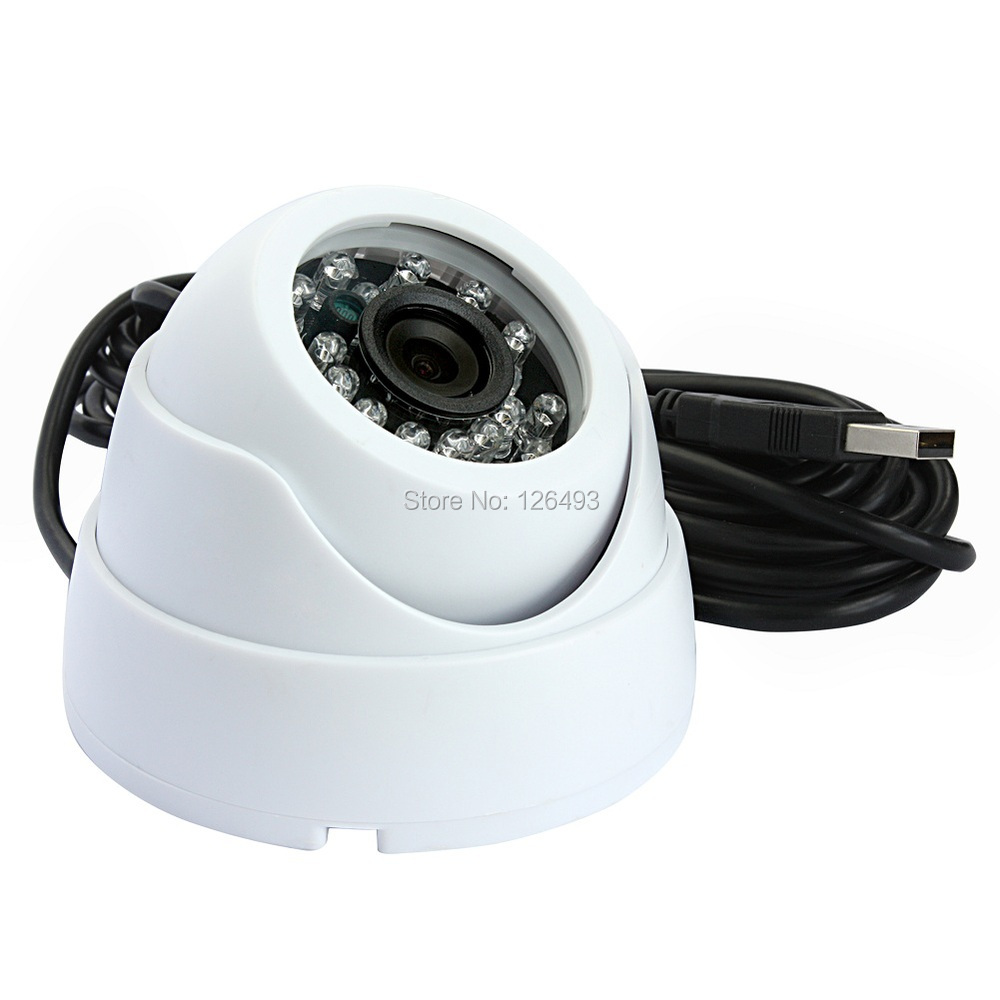 Free shipping Indoor plastic 1080P CMOS OV2710 UVC MJPEG&YUY2 mini dome ir infrared cctv home security dome usb camera android usb camera 5m cable plastic mini dome cctv