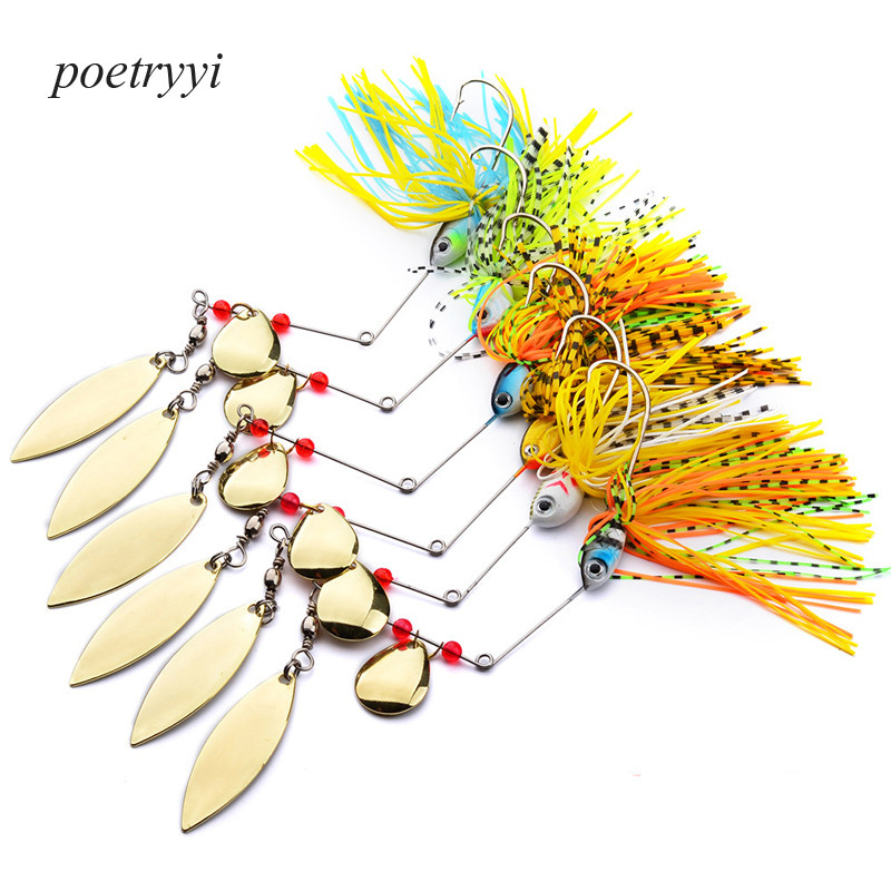 1Pcs/lot  tassel lures Fishing Lure Soft Plastic Bait With Hook Top Water Artificial Fish Tackle 15g-18g 30