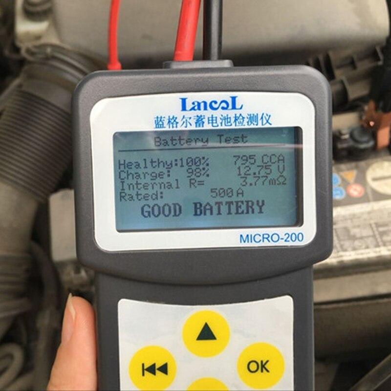 LANCOL MICRO-200 Automotivo סוללה דיגיטלי CCA סוללה Analyzer רכב סוללה בודק 12 v אבחון כלי עם USB להדפסה