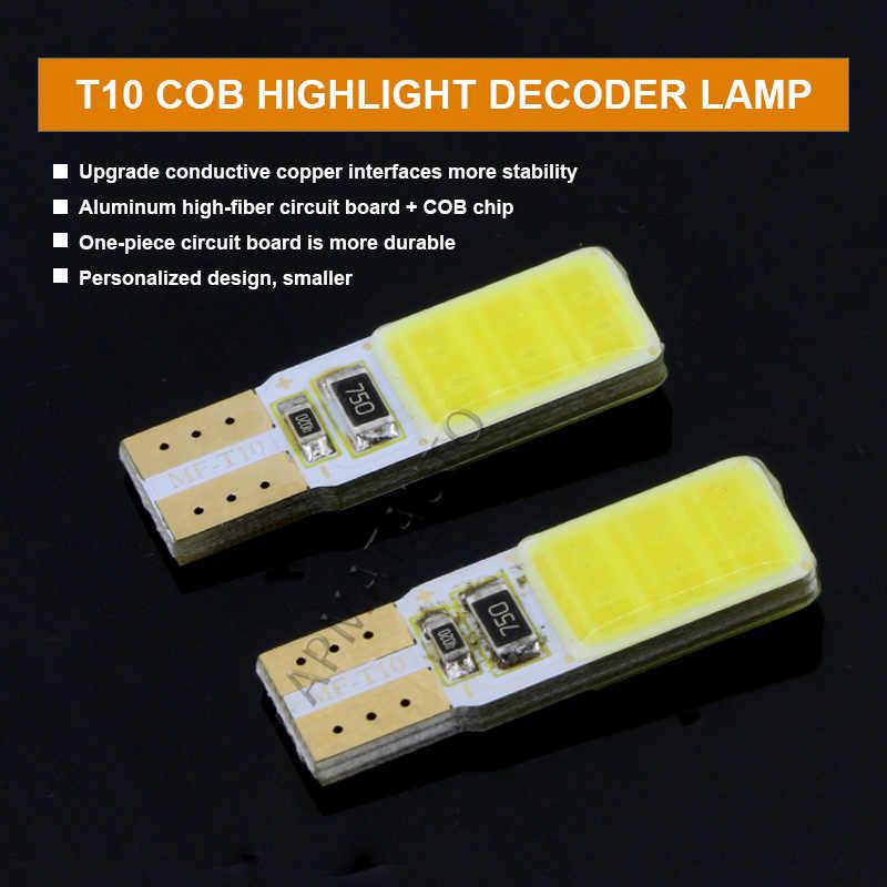 2 x T10 W5W ترخيص رقم لوحة مصابيح مزودة بإضاءة ليد مصباح لبيجو 206 207 306 307 406 407 308 3008 508 5008