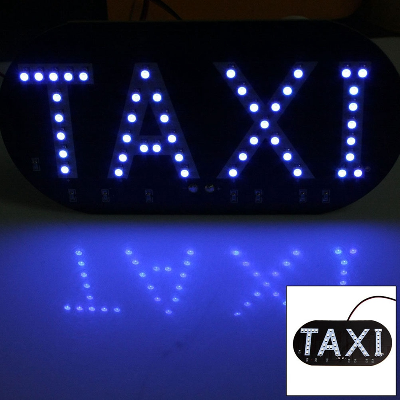 VODOOL 1pcs/lot Taxi Led Car Windscreen Cab indicator Light Sign Blue 1210 SMD 45 LED Taxi Lights Lamp DC 12V