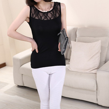 Nice Nice Suspenders Vests Tencel Stitching Lace Top Gauze Vest woMen Tops Clothing tanks&Camis