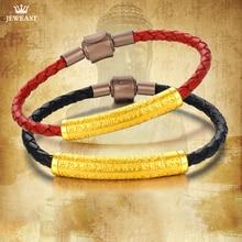 SFE Bracelet en or pur 24K, Bracelet en or 999, véritable, porte bonheur 3D, Simple, bijoux fins, tendance, nouvelle collection 2020