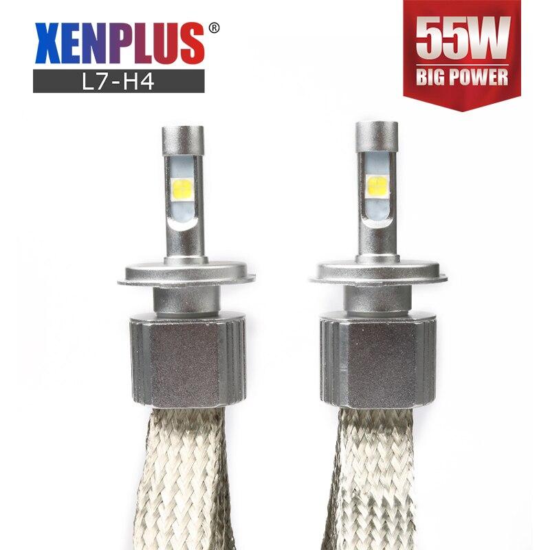 2 pièces H4 LED D2S H7 Cree XHP70 Puce 6600LM 55 W 12 V ampoule De Phare HB3 HB4 9004 9007 9005 9006 H13 Voiture lampe Moto Lumière 6000 K