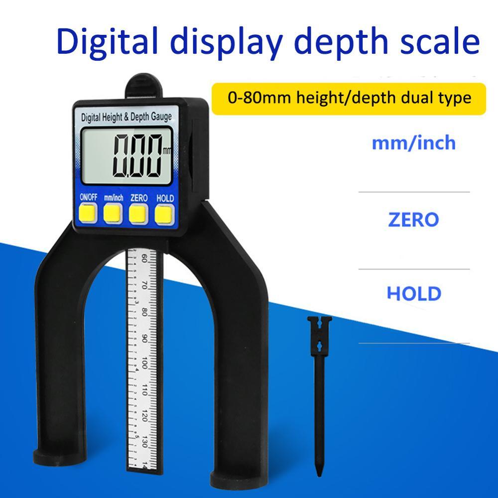 Woodworking Magnetic Self Standing Digital Display Height Depth Measure Gauge