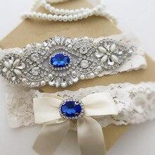 1 пара белая свадебная Кружевная подвязка набор подвязок Свадебные Подвязки винтажные кружевные стрейч Стразы подвязки