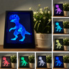 Luminarias Unique Dragon Photo Frame 7 Color Changing RGB Night Light Child Bedroom Bedside Table Lamp