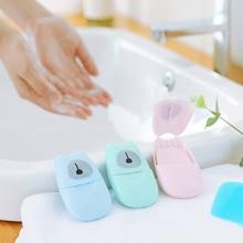 50 шт./лот, портативные салфетки для мытья рук, для ванной, для путешествий, ароматические салфетки, коробка для вспенивания, бумажное мыло,, Прямая поставка, цветные