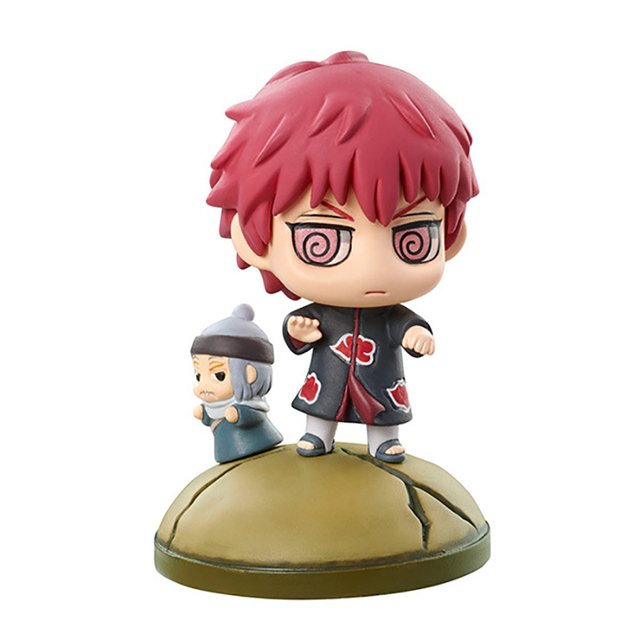 6pcs/set Naruto Hidan Kakuzu Sasori Mounts Figure Toy