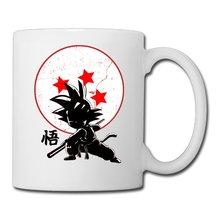 Goku dragon ball z becher kaffeetassen porzellan art home aufkleber wein whiskey bier mugen keramik becher