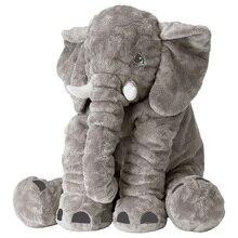 Animal Soft Elephant Plush Dolls Toys Decorative Pillows Stuffed Dolls Plush Elephant Pillows Children Girls Kids Toys
