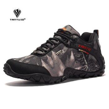 Nuevas zapatillas a la última moda de escalada resistentes al agua anti-deslizantes transpirables resistentes al clima para pesca acampada escalada zapatillas con suela de goma