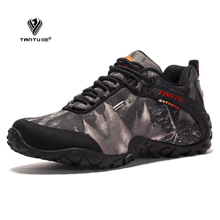 The new fashion waterproof canvas hiking shoes Anti-skid Wear resistant breathable fishing camping climbing rubber sole shoes  цена в Москве и Питере