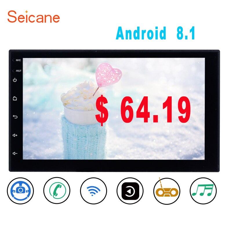Seicane Android 8.1 7 inch 2 Din Universal Car Radio GPS Multimedia Unit Player For Volkswagen Nissan Hyundai Kia toyata CR V