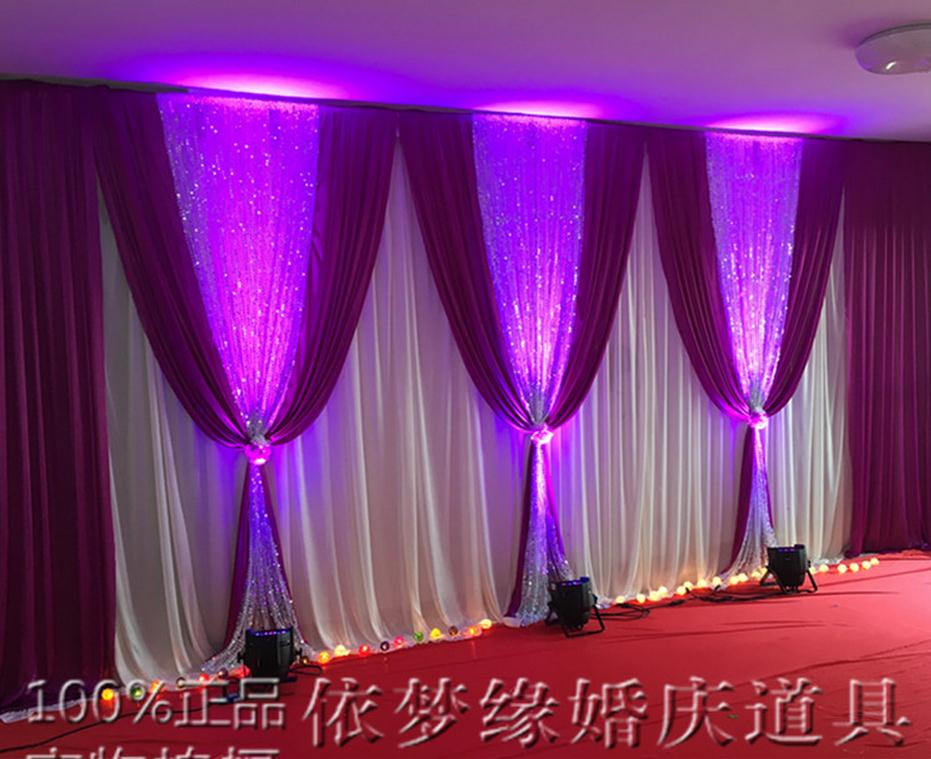 White And Gold Wedding Backdrop Curtain With Sequins Swag Wedding
