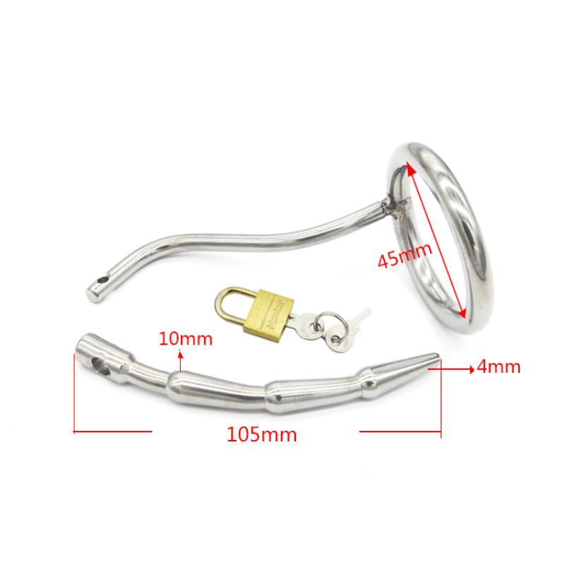 новый одежда высшего качества уретральные зонды катетер лошадь глаз нержавеющая сталь пенис вилка пениса кольцо игрушки для мужчин целомудрие устройств для g135