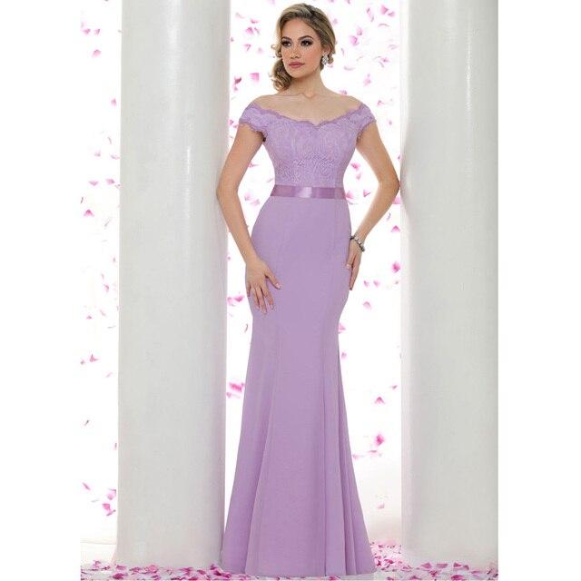 Off the Shoulder Lavender Dress