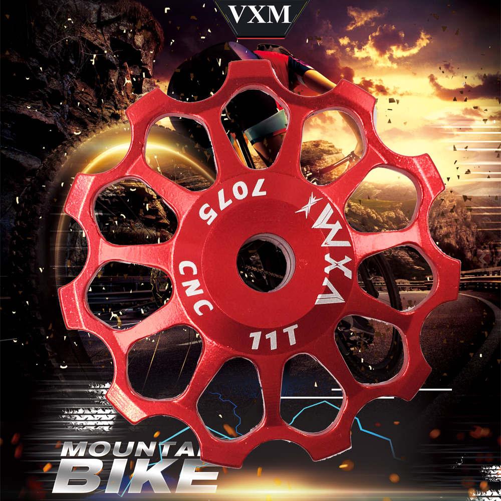 Купить с кэшбэком VXM Bicycle Ceramics Rear Derailleur 11T 12T 13T 14T 15T 16T 17T Jockey Wheel Road MTB Guide Bike Ceramics Bearing Bicycle Part