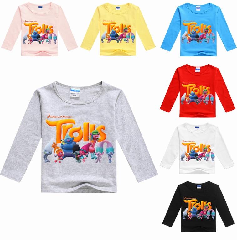 Z&Y 3-16Years Boys Tops Long Sleeve Shirt Party Supply Trolls Poppy Tshirt Kids Tshirt Novatx Baby Girl Tops Cartoon Characters