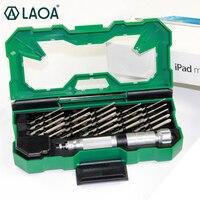 LAOA 25 ב 1 ערכת כלים סט מברג דיוק מדויק יד כלים תיקון לטלפון נייד מחשב נייד Iphone טלפונים סלולריים LA613130