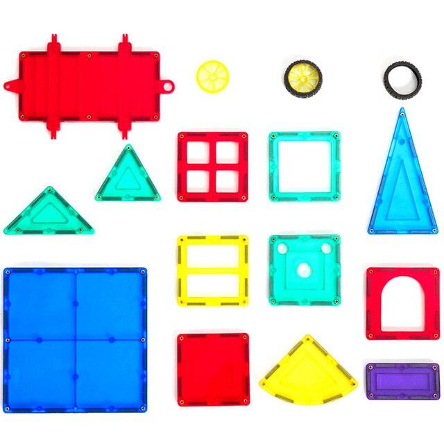 1 PCS Grande Cor Transparente Designer de Modelagem Brinquedos de Construção Magnético & Blocos de Construção Magnético Brinquedos Engraçados para As Crianças Presente