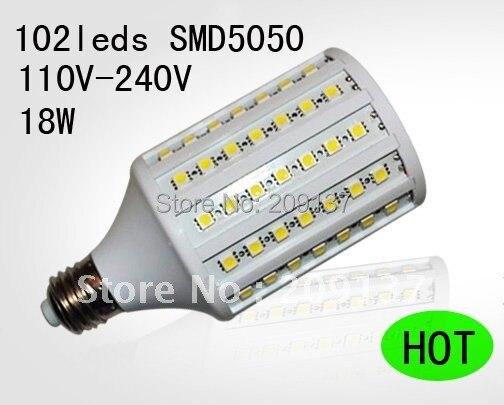 18 Вт 5050 SMD 102 Светодиодная лампа E27 светодиодные лампы белый | теплый белый 1800lm