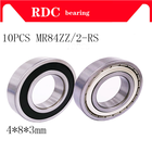 10PCS MR84ZZ Bearing...