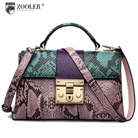 ZOOLER Bags Handbags Women Famous Brands Women Leather Handbag Superior Leather Material Shoulder Bag Orange Crossbody