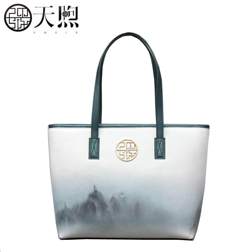 TMSIX 2017 New women bag famous brands Art fashion printing Luxury Leather handbags women handbags shoulder  bagTMSIX 2017 New women bag famous brands Art fashion printing Luxury Leather handbags women handbags shoulder  bag