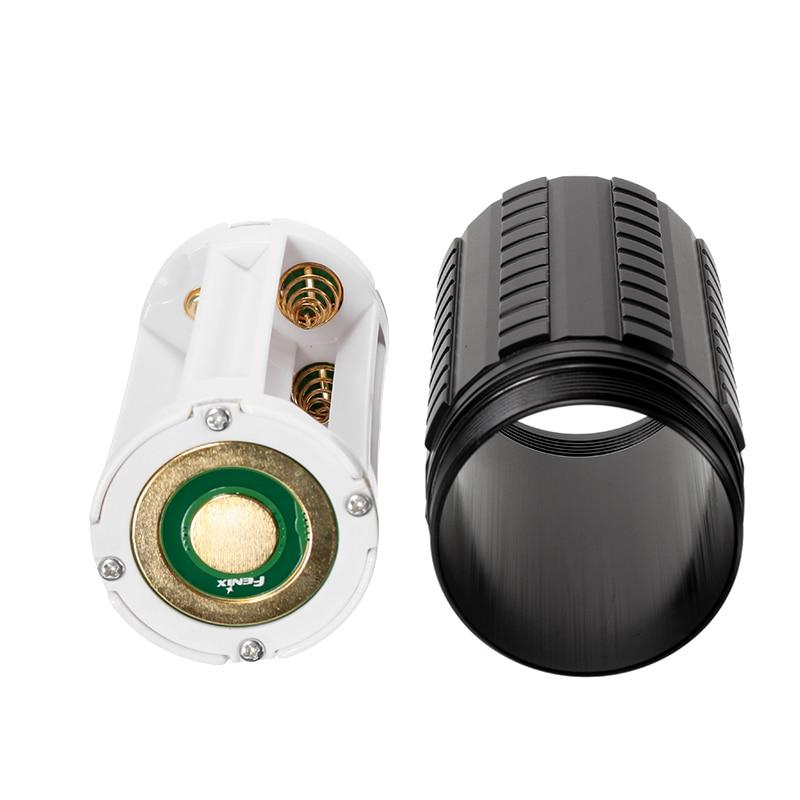 Jiguoor 100mm(L)*52mm(Dia) Extension Tube Runtime Kit For Fenix TK75 TK76 TK61 LED Flashlight With Battery Holder цена