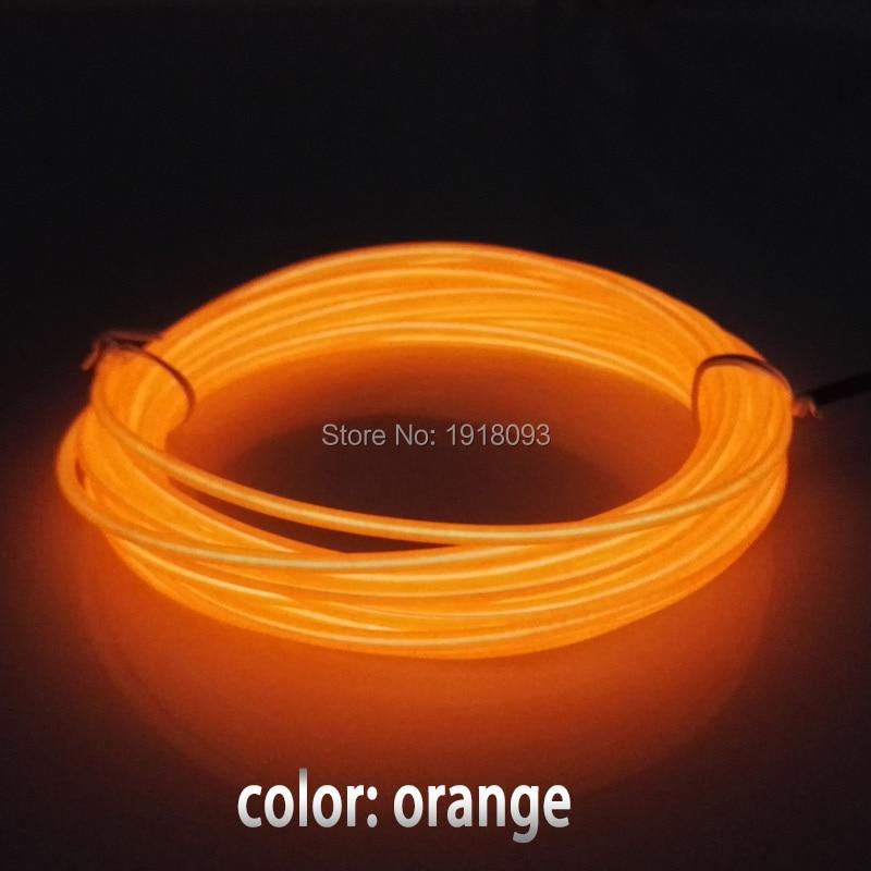 1-5 Metro Flexible Neon Light Glow EL Cable de alambre Tubo Tira de - Iluminación LED