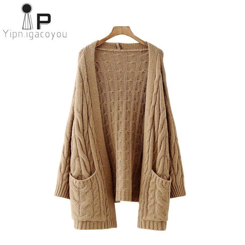 Harajuku Long Cardigan Women Sweater 2018 Big size Knitted Cardigan Ladies Student Winter Coat Women Tops Casual Ladies Clothes