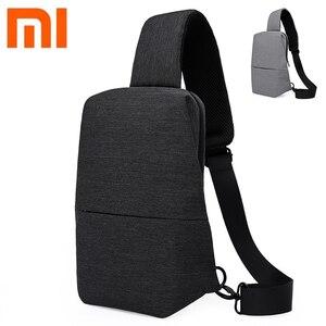 Image 2 - Original Xiaomi Mijia กระเป๋าเป้สะพายหลังสลิงกระเป๋า Chest Pack ขนาดเล็กประเภทไหล่ Unisex Rucksack Crossbody กระเป๋า 4L โพลีเอสเตอร์