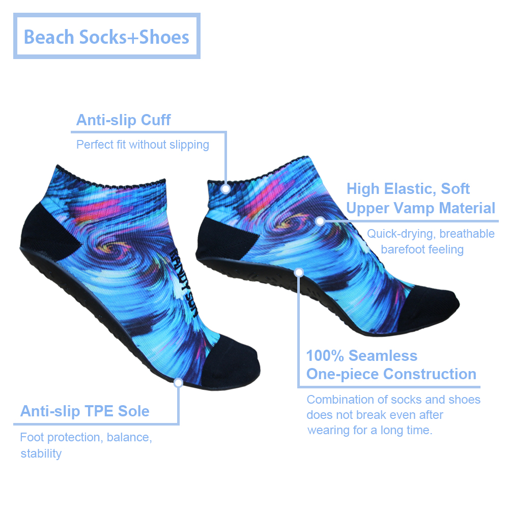 Breathable Seamless Yoga Sock With TPE Sole Barefoot Quick-Dry Aqua Beach Socks
