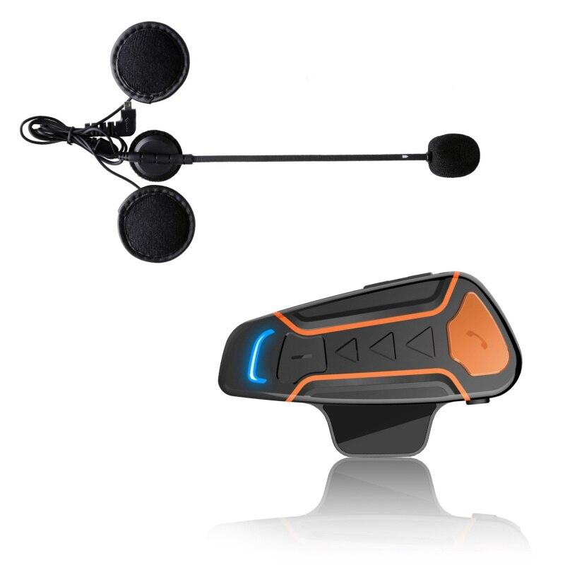 Portable Motorbike Bluetooth Headset Communication Systems Waterproof Motorcycle Helmet Intercom Interphone And Audio