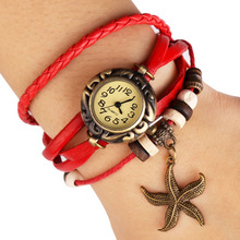 LNRRABC New Fashion High Quality Jewelry Multilayer Watch Leather Bracelets Women Ladies Summer Autumn Accessories Gifts