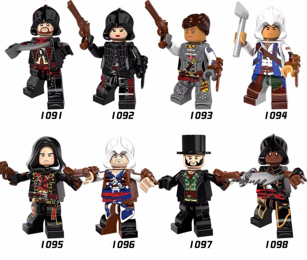 цены 8pcs/Set building Blocks Sets china brand Assassins creed PG8086 jarno compitble with Lego