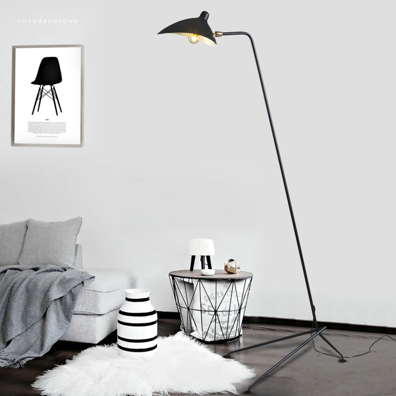 European style living room bedroom floor lamp bedside originality American Vintage, sing ...
