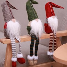 2019 Christmas Decoration Sitting Long-legged Elf Festival Year Dinner Party Doll Pendant Decorations for Home