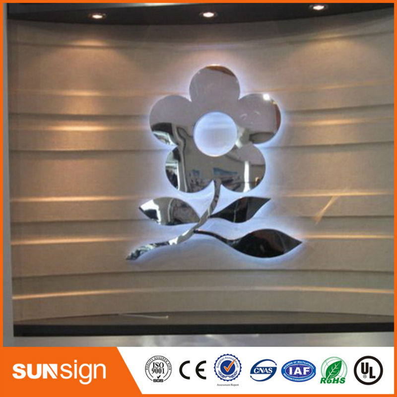 Small Stainless Steel Backlit Sign Letter
